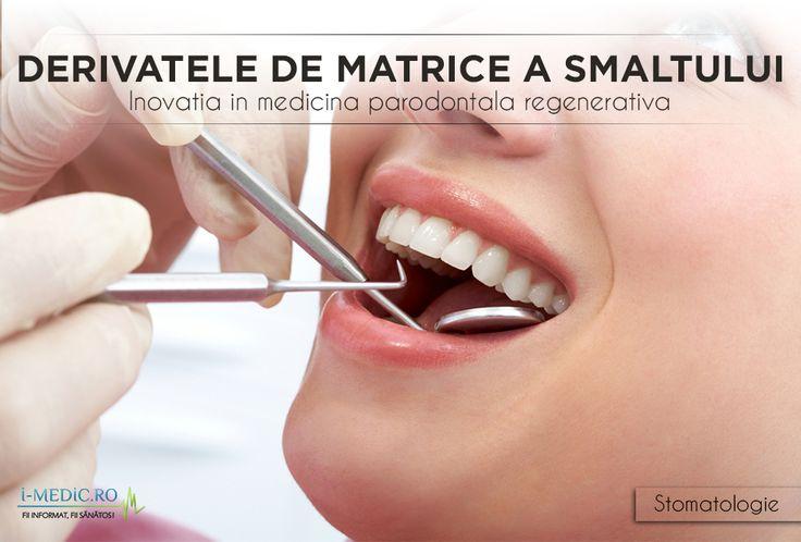 Derivatele de matrice a smaltului stimuleaza regenerarea tesuturilor moi si dure din jurul dintilor, distruse de boala parodontala.  http://www.i-medic.ro/stomatologie/derivatele-de-matrice-a-smaltului-inovatia-medicina-parodontala-regenerativa