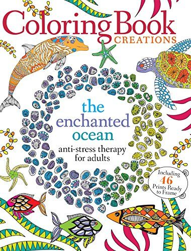 Coloring Book Creations Enchanted Oceans Anti Stress Therapy For Adults By Media Lab