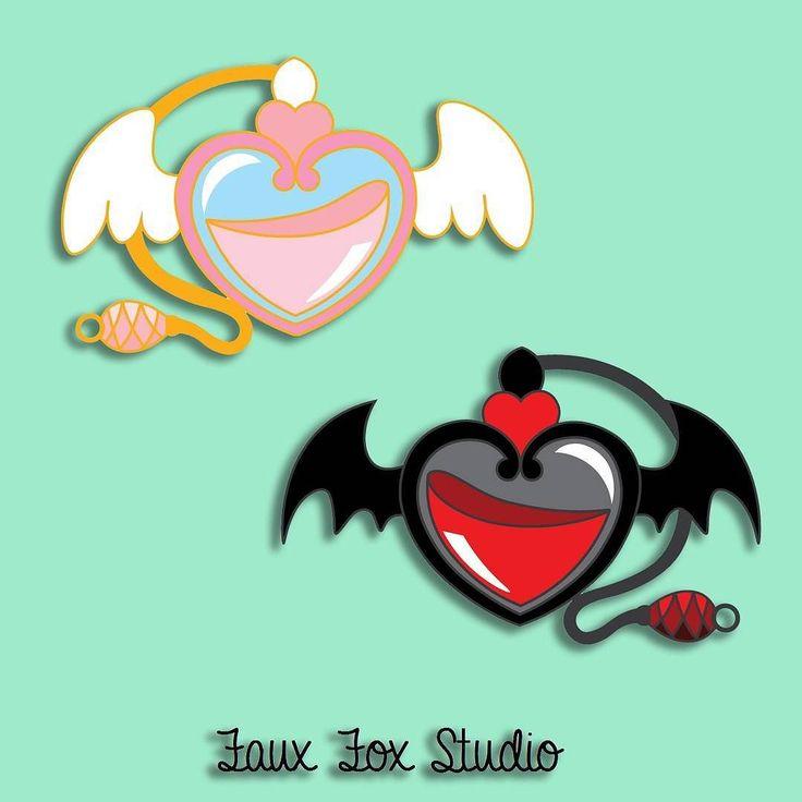 Eau de Seraph and Eau de Devil.  Which is your aesthetic?  #angel #devil #perfume #pindesign #pindesign