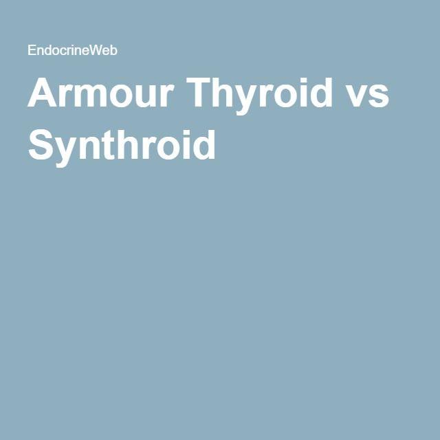 Armour Thyroid vs Synthroid
