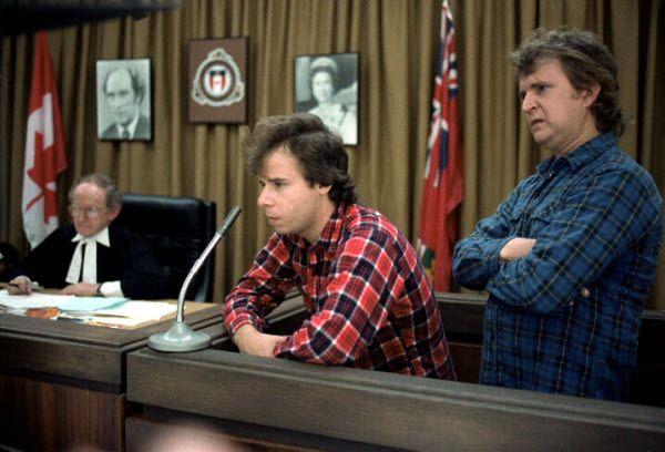 The entire courtroom scene in Strange Brew
