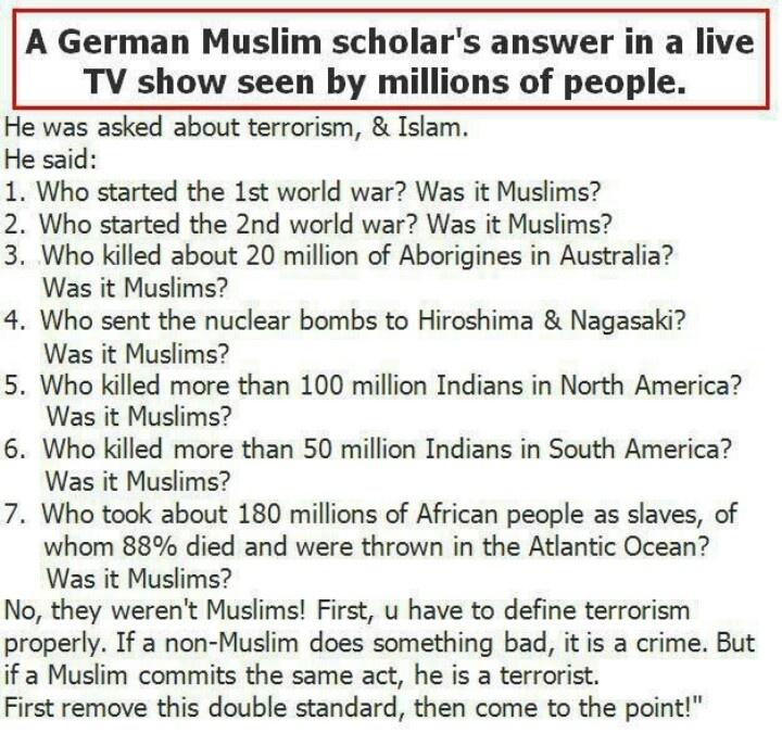 Was it Muslims?