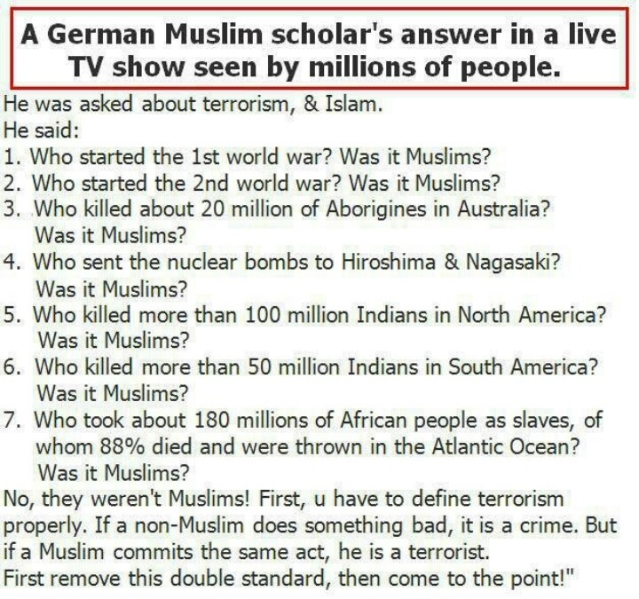Was it Muslims?