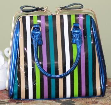 Licorice Allsorts Striped Handbag (Back In Stock)