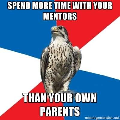 I love my mentors aand my parents equally..