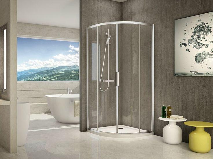 cabina de ducha de esquina en aluminio y vidrio prima s by duka