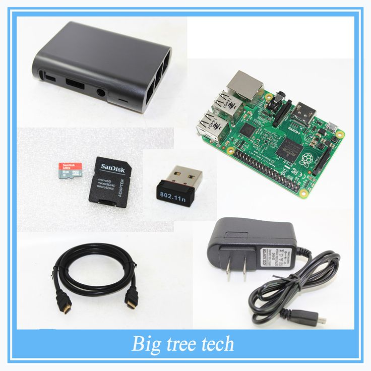 Raspberry Pi 3 1GB RAM Quad Core 1.2GHz Complete Starter Kit - 8G TF Card NOOBS Case HDMI Cable USB WIFI for Raspberry Pi 3
