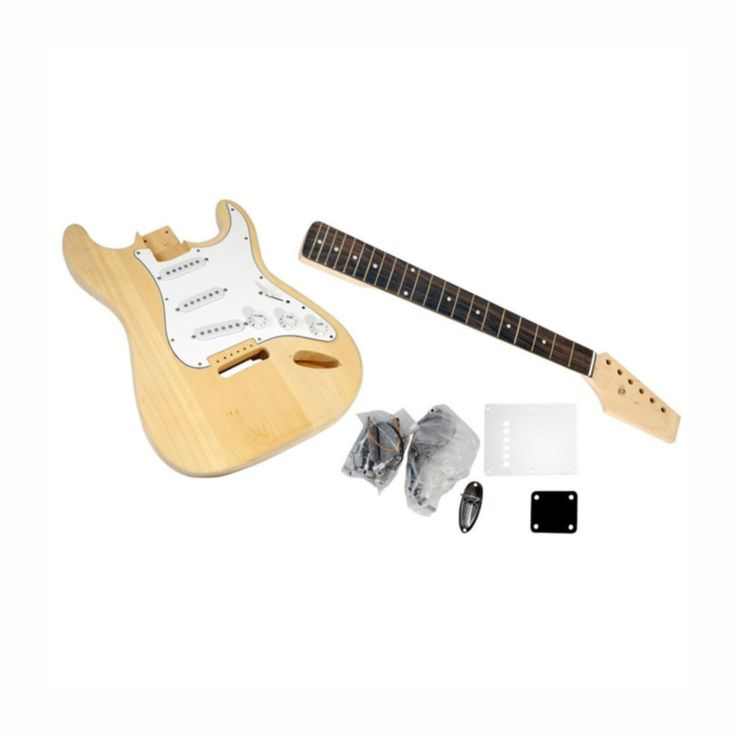 Pyles Unfinished Strat Electric Guitar Kit - You Build The Guitar