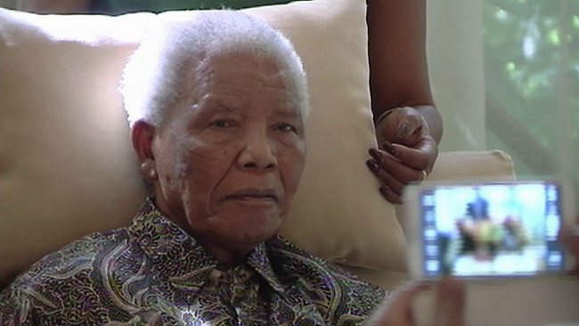 "Warm thoughts and love for the great MADIBA-- ""SOUTH Africans were urged to let go of their beloved hero Nelson Mandela after the ailing 94-year-old spent a second night in hospital with a recurrent pneumonia infection."""