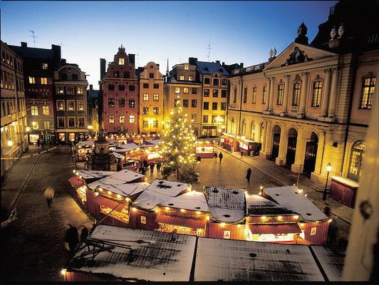 Stockholm Old Town Xmas fair <><