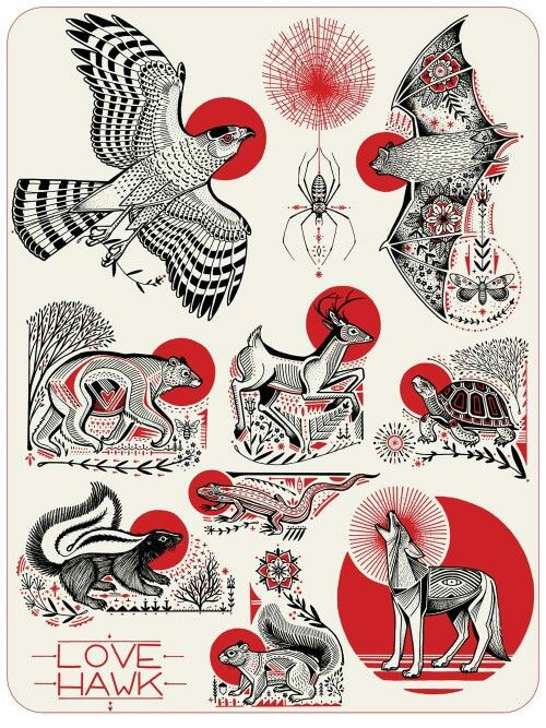 These would make amazing tattoos! David Hale