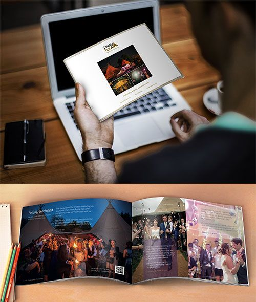 Totally Tipi are a successful premium tipi hire company, and they required a gorgeous new promotional brochure that would effectively showcase their services and attract new enquiries. Visit our showcase to find out more what about what we could do for you!