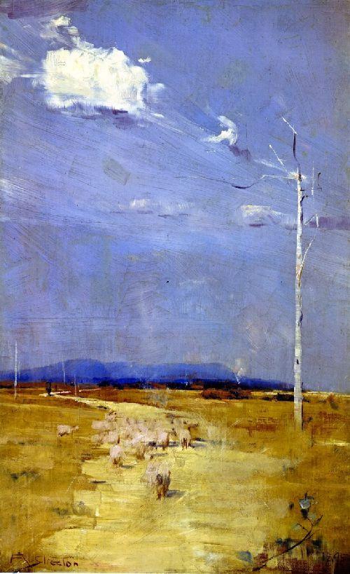 Oncoming Storm. 1895. Arthur Streeton. Oil on wood panel.