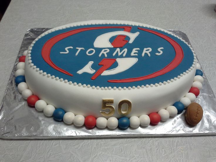 Stormers rugby team cake Rugby cake, St patricks day