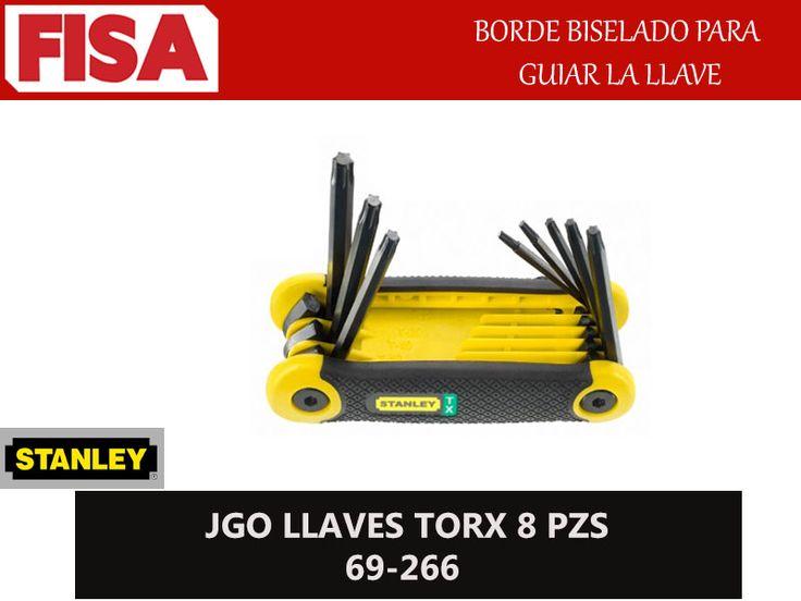 JGO LLAVES TORX 69-266. Borde biselado para guiar la llave- FERRETERIA INDUSTRIAL -FISA S.A.S Carrera 25 # 17 - 64 Teléfono: 201 05 55 www.fisa.com.co/ Twitter:@FISA_Colombia Facebook: Ferreteria Industrial FISA Colombia