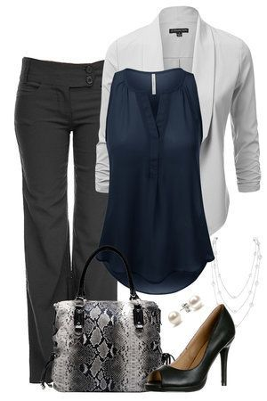 If you want to look cute at work without all the hassle and without draining your wallet, visit outfitsforlife.com for more info and to see more work outfits like this one! #fallworkoutfits #workoutfits