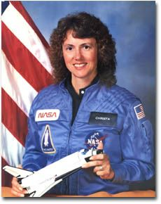 Christa McAuliffe was born September 2, 1948, in Framingham, MA. A high school history teacher, she was the first American civilian selected to go into space in 1985. After being selected by NASA in 1985, she trained at the Johnson Space Center. On January 28, 1986, she boarded the space shuttle Challenger. The space shuttle exploded shortly after liftoff, killing everyone on board.