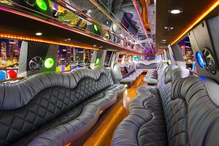 Las Vegas Ford F-650 Stretch Limousine interior
