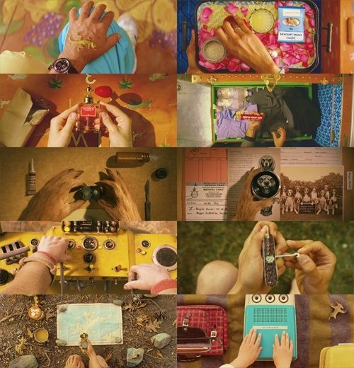 Wes Anderson, overhead, hands