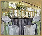 Tall White flower wedding centerpieces.  Grey and Lime green wedding.  Florida Beach Weddings | St. Pete Beach Weddings | Grand Plaza Beachfront Resort