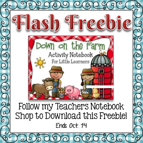 If you're like me, you love freebies! Like my Teachers Notebook Shop and then download Down on the Farm Activity Notebook for Little Learners (using the link provided here)... it's that easy! I hop...