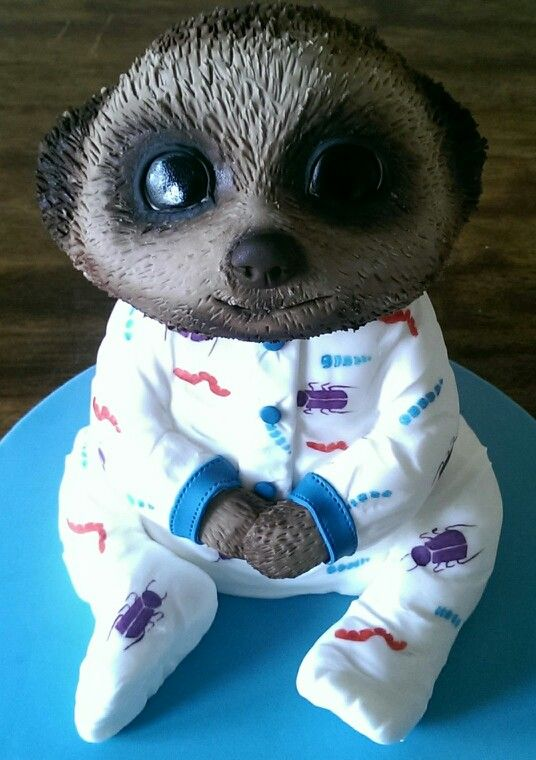 My Baby Oleg cake. All edible with handpainted baby grow