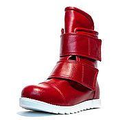 Обувь ручной работы. Ярмарка Мастеров - ручная работа Зимние ботинки 6z-52 (СБ). Handmade.