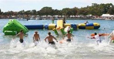 Just 4 #Fun #AquaPark: Climb, slide, jump, splash - inflatable fun for everyone!