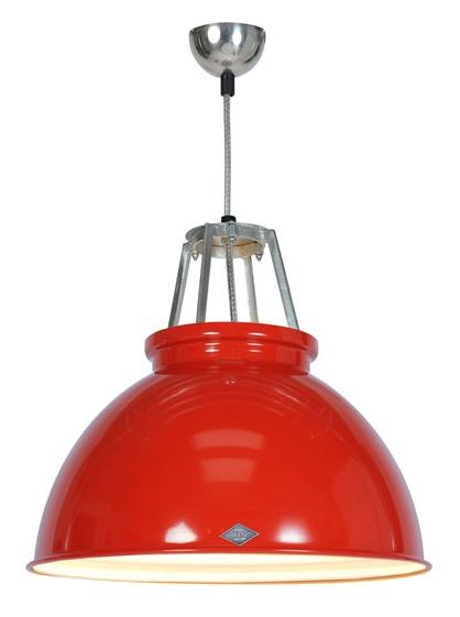 Titanic Pendant Light Red - £299.00 - Hicks and Hicks