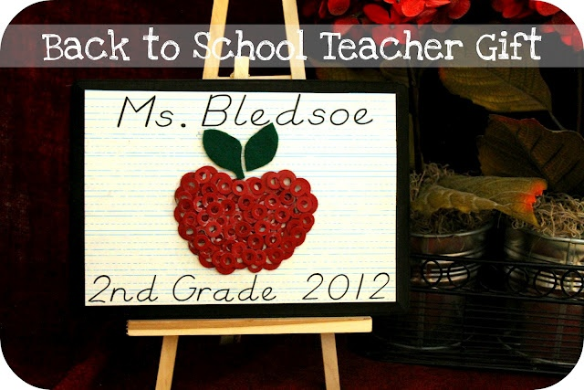 Back to School Teacher Gift{Occasionally Crafty} | The CSI Project