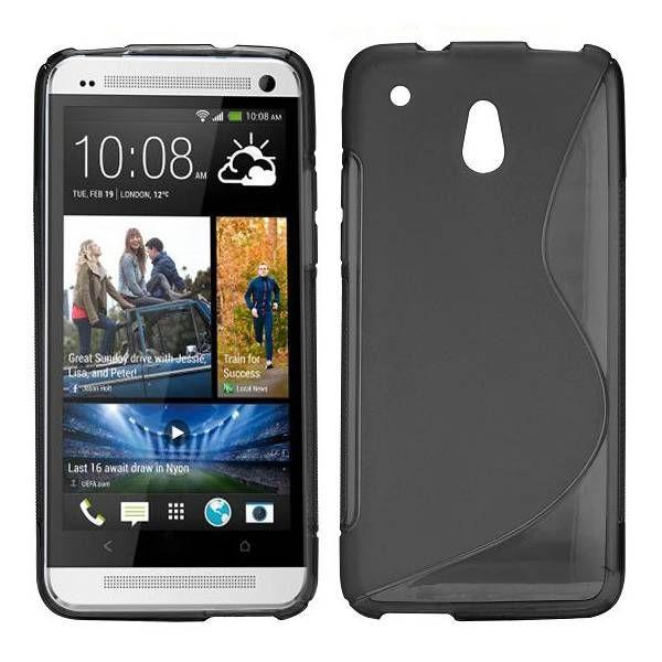Zwart s-line flexibel TPU hoesje voor HTC One Mini