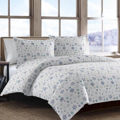 Found it at Wayfair.ca - Tossed Snowflake 2 Piece Twin Duvet Cover Set