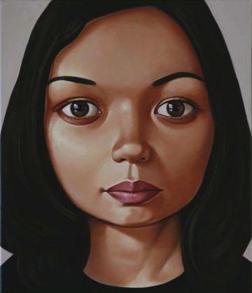 Portrait painting, Peter Stichbury – 'Bic Runga'