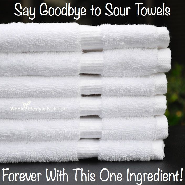 How To Get Rid of Sour Towels With Just One Ingredient! ***But wait...before you look...what do you think it is?***