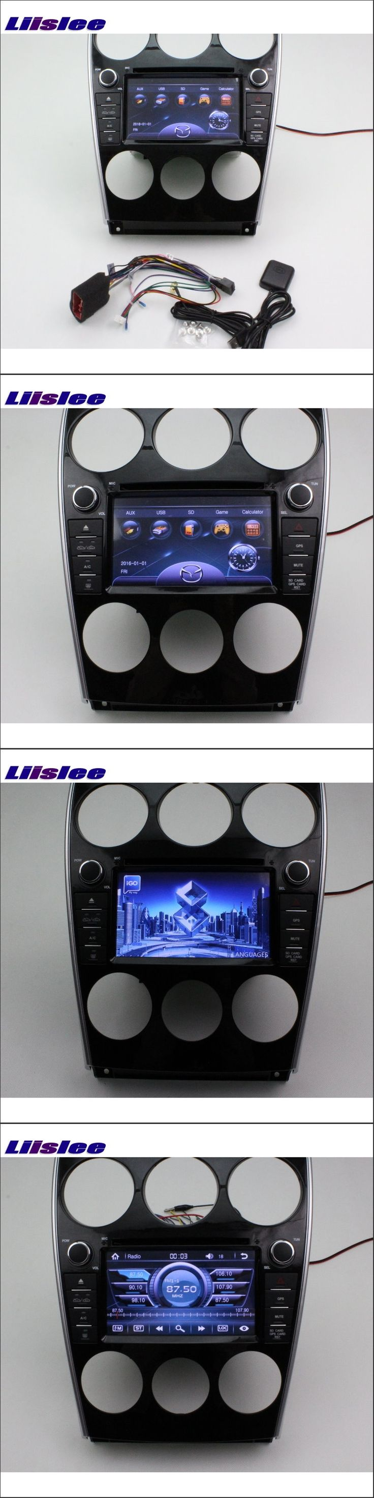 Liislee For Mazda 6 Mazda6 2002~2008 Car GPS Navigation Stere Radio CD DVD Player HD Touch Screen Bluetooth Multimedia System