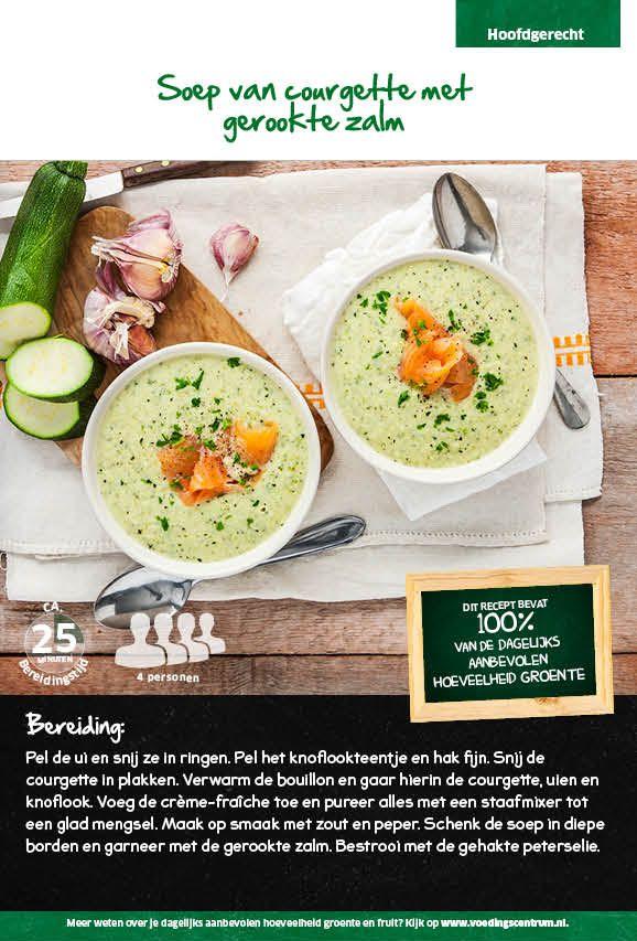 Recept voor soep van courgette met gerookte zalm #Lidl