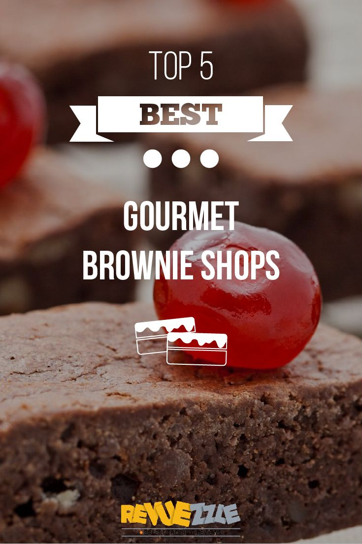 These Gourmet Brownie Shops bring you the best and most indulgent brownies the world has to offer! #brownies #chocolate #best