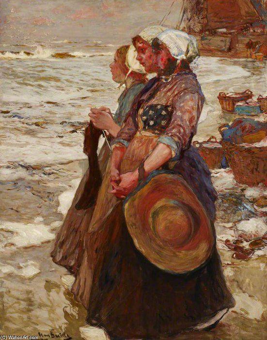 'Three Dutch Fishergirls' by Hans Von Bartels (1856-1913, Germany)