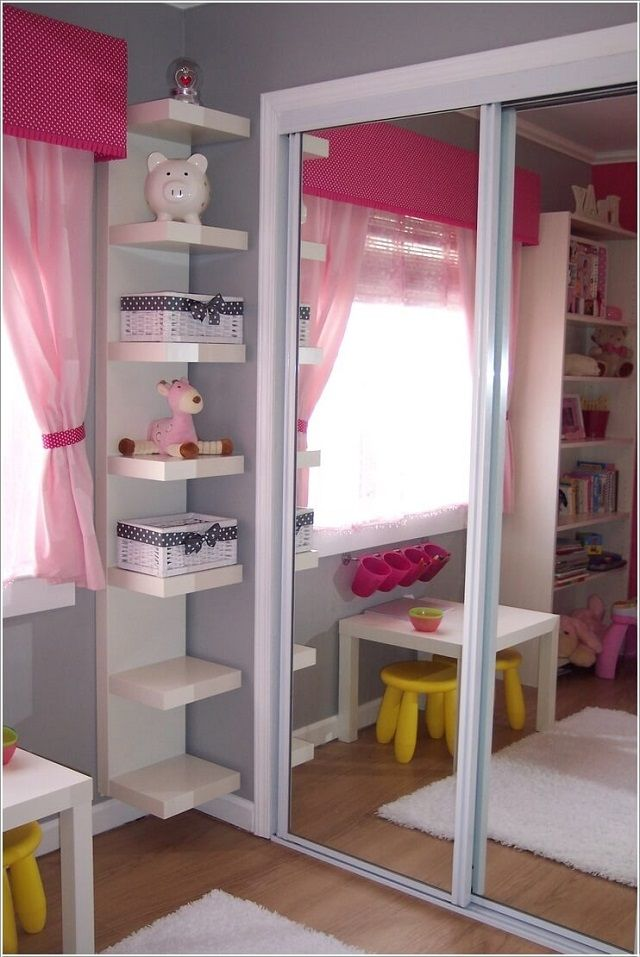 The 25 best small kids rooms ideas on pinterest kids for Bedroom bookshelves
