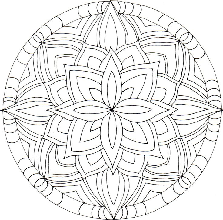 Mandala..potential mosaic pattern idea