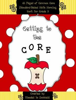 """This resource includes 65 pages of math morning work for third graders. Each worksheet includes the Common Core State Standard along with """"I can"""" statements on each page so that the objective is clearly defined. Numbers and operations in base ten, algebraic thinking involving multiplication & division, fractions, measurement & data, along with geometry are all included."""