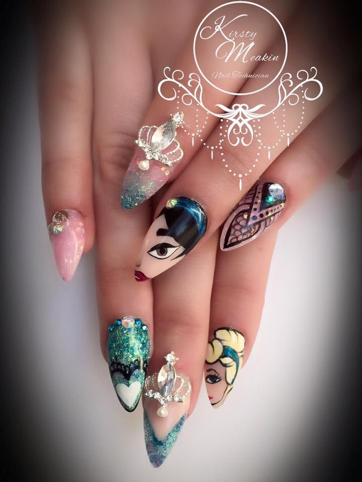 Kirsty Meakin Nail Art Disney Princesses Naio Nails Products Ongles Peints Ongles Et Bar 224