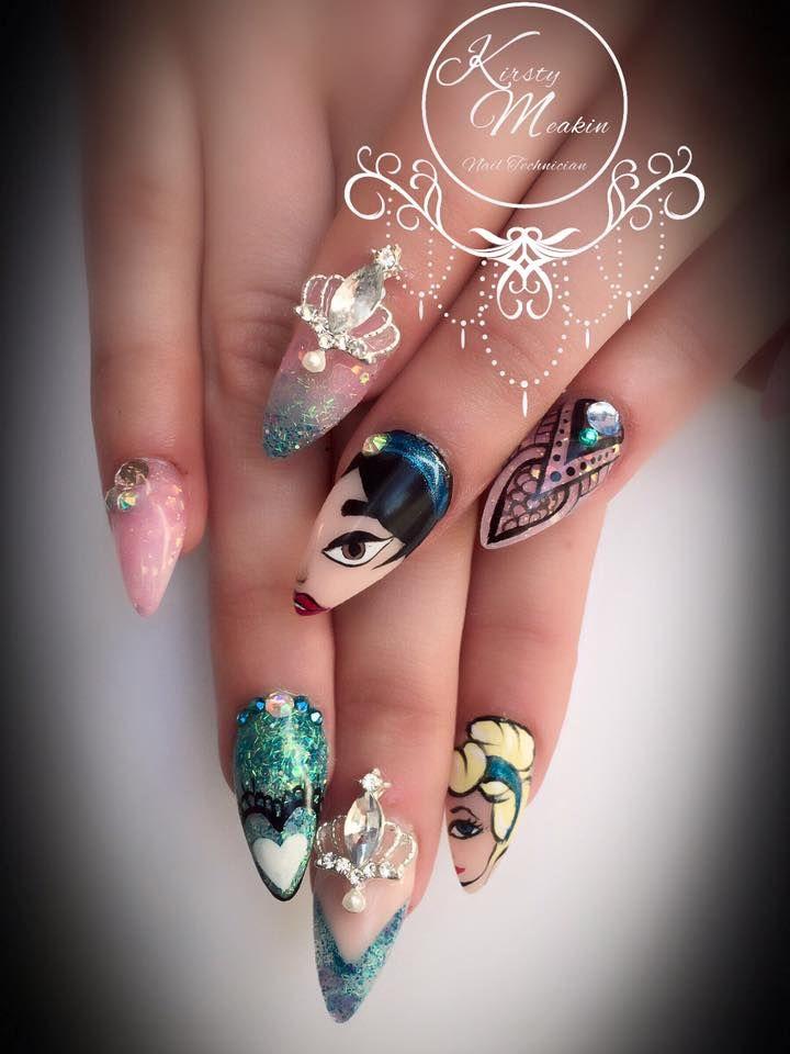 Kirsty Meakin Nail Art, Disney Princesses   NAIO NAILS PRODUCTS