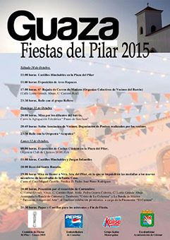10 – 12 de octubre.  Fiestas del Pilar 2015 en Güímar en el barrio homónimo con actos en honor a su patrona; comenzarán el sábado con castillos hinchables para los más pequeños y finalizarán el lunes, día principal de las fiestas, con la procesión de la imagen.