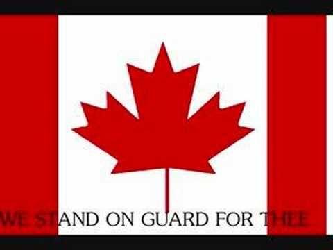 Canada's anthem with lyrics---English only
