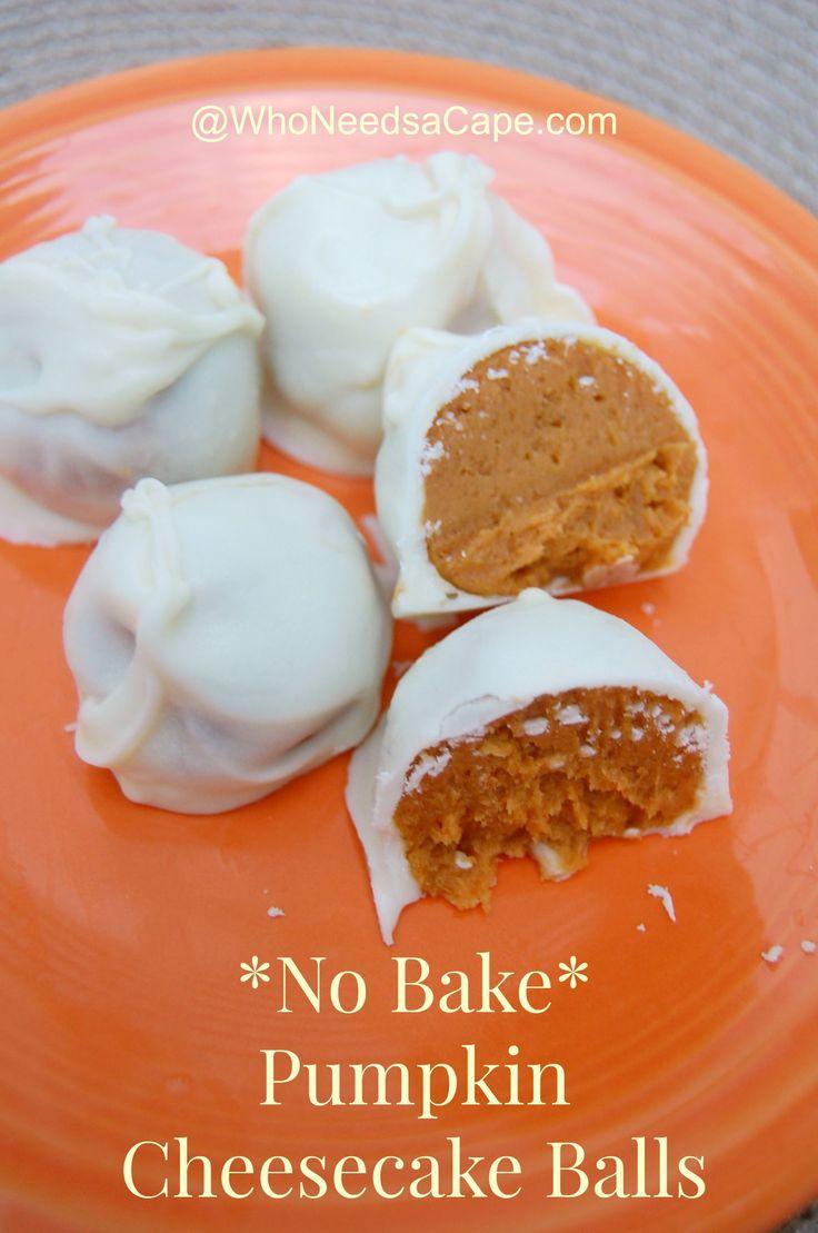 No Bake Pumpkin cheesecake balls 2