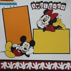 Scrap-Stickle-Pop: Disney Layouts - Part 4 - with a Must See Disney Characters Page!