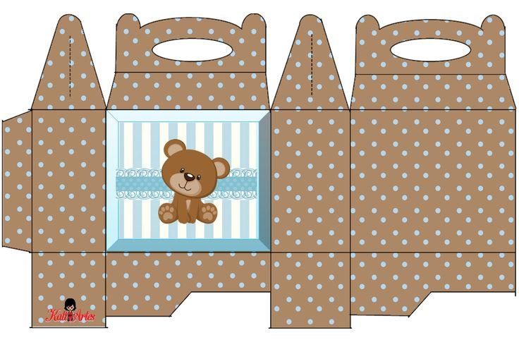 Ositos: Caja para Lunch, para Imprimir Gratis. - Ideas y material gratis para fiestas y celebraciones Oh My Fiesta!
