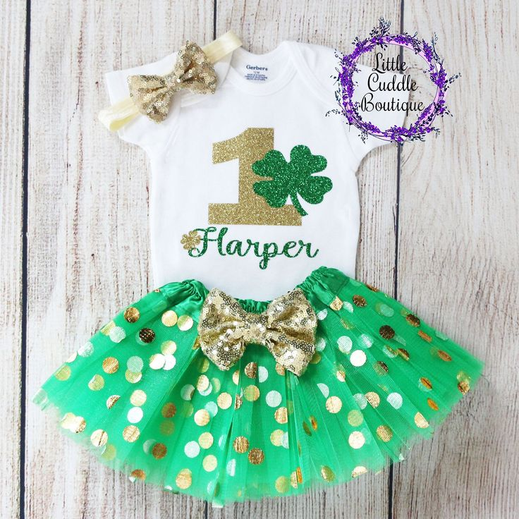 Personalized St. Patrick's Day Birthday Tutu Outfit in