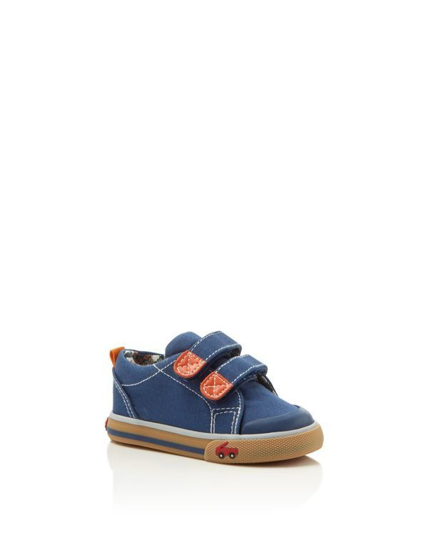 Boys Leather Suede Blue Orange Babies Lace For